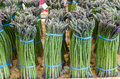 Fresh asparagus on display at the market Royalty Free Stock Photo