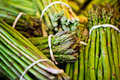 Fresh asparagus on the market Royalty Free Stock Photo