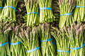Fresh asparagus stalks at the market Royalty Free Stock Photo