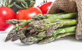 Fresh asparagus with vegetables food background Stock Photography