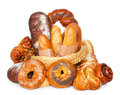 Fresh baked bread assortment Stock Photos