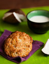 Fresh baked coconut macaroons table Royalty Free Stock Images