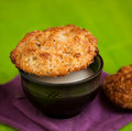 Fresh baked coconut macaroons table Royalty Free Stock Photography