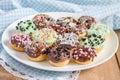 Fresh baked homemade mini donuts