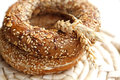 Fresh bakery products bread bagel Royalty Free Stock Photography
