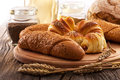 Fresh bakery products organic food Stock Photography