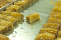 Fresh baklava Stock Photography