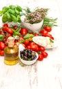 Fresh Basil, Tomatoes, Mozzare...