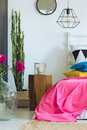 Fresh bedroom with juicy colors Royalty Free Stock Photo