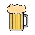 Fresh beer jar isolated icon