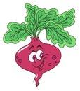 Fresh beetroot cartoon