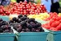 Fresh Berries At Farmers Market