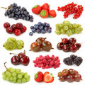 Fresh berries collection Royalty Free Stock Photos