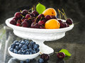 Fresh berries and fruits. Royalty Free Stock Photo