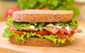 Fresh BLT Sandwich Royalty Free Stock Images