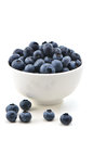 Fresh blueberries bowl of in vertical format Stock Photos