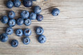 Fresh blueberries on wooden background Stock Image