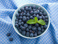 Fresh blueberry in bowl Royalty Free Stock Image