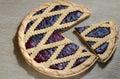 Fresh blueberry pie Royalty Free Stock Photo