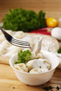 Fresh boiled meat dumplings Stock Photos