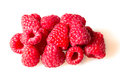 Fresh bow raspberry on the white isolated background Stock Images