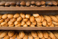 Fresh bread loafs Stock Photos