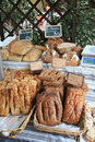Fresh bread on a market in B�doin, France Stock Image