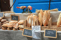Fresh bread on a market in Bedoin, France Stock Images
