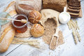 Fresh bread and rolls Royalty Free Stock Photo