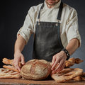 Fresh bread on the table Royalty Free Stock Photo