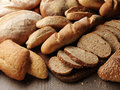 Fresh bread on the wooden Royalty Free Stock Images