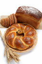 Fresh breads for a variety isolated. Royalty Free Stock Image