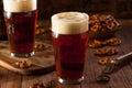 Fresh brewed oktoberfest autumn ale in a pint glass Royalty Free Stock Photos
