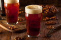 Fresh brewed oktoberfest autumn ale in a pint glass Stock Photos