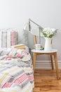 Fresh and bright bedroom decor Royalty Free Stock Photo