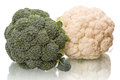 Fresh broccoli and cauliflower Royalty Free Stock Photo