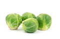 Fresh brussel sprouts on white background Royalty Free Stock Photography