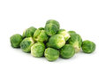 Fresh brussels sprout on white background Royalty Free Stock Photos