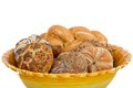 Fresh buns and pastries in a bowl Royalty Free Stock Photo