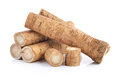 Fresh burdock roots on white background a Royalty Free Stock Photos