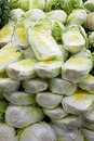 Fresh Cabbages for Sale Stock Images
