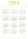 Fresh calendar clean design of for year fully editable cs vector eps Royalty Free Stock Photography