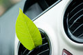 Fresh car green leaf in the air outlet clean air conditioning concept Stock Images
