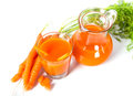 Fresh carrot juice see my other works in portfolio Stock Image