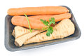 Fresh carrot and parsley with root Royalty Free Stock Photography