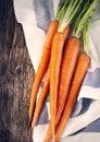 Fresh carrots. Royalty Free Stock Photo