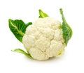 Fresh cauliflower isolated on a white background Royalty Free Stock Photo