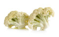 Fresh cauliflower on white background Royalty Free Stock Photo