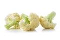 Fresh cauliflower on white background Royalty Free Stock Photo