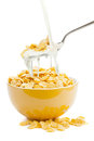 Fresh cereal cornflakes and milk Royalty Free Stock Photo